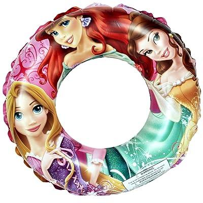 "Disney Princess Ariel, Belle, & Rapunzel Swimming Pool 20"" Swim Ring: Toys & Games"