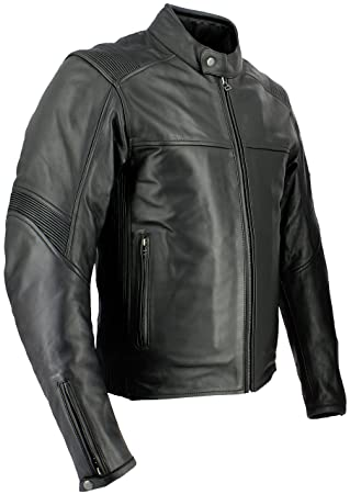 100% de qualité qualité parfaite marques reconnues Soubirac Blouson cuir moto Utah, Noir, Taille M: Amazon.fr ...