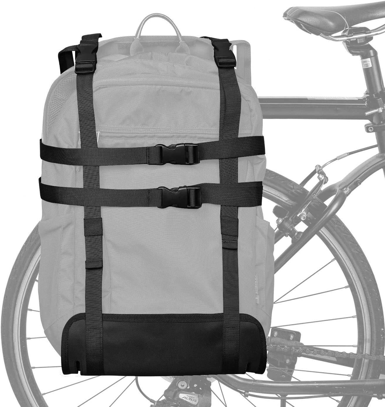 Epessa Portable Bike Trunk Pannier, Bicycle Rack Rear Carrier Bag, Bike Luggage Carrying Strap