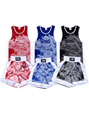 Prime Leather New Sublimation Design Kids Boxing Uniform (Top & Short) Age 3-14 Muay Thai Kick MMA Training 908