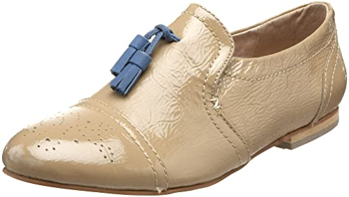 Steve Madden Tarrtan - Mocasines de cuero para mujer Beige Blush Pat 38: Amazon.es: Zapatos y complementos