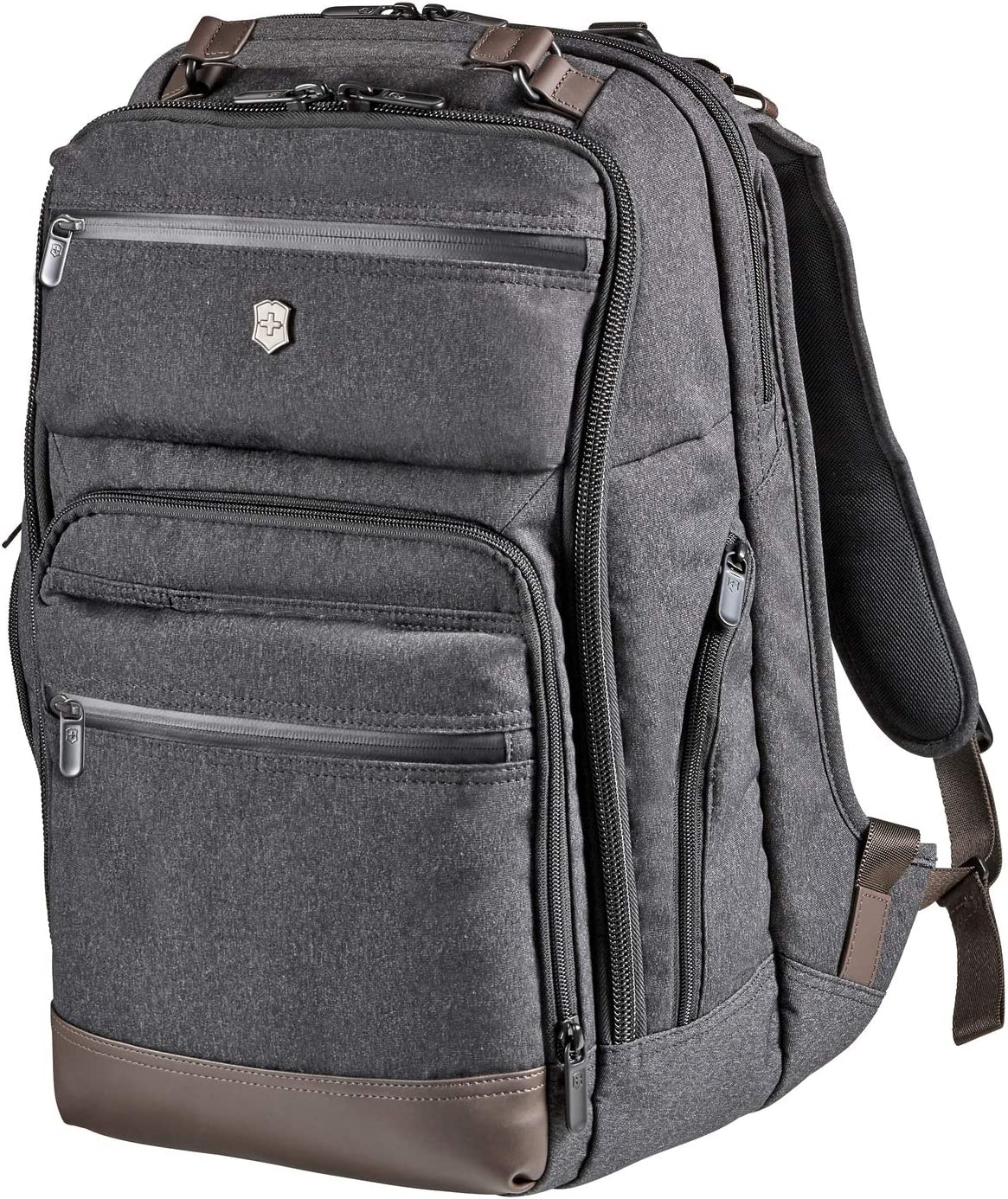 Victorinox Architecture Urban Rath Laptop Backpack, Grey/Brown, 18.1-inch