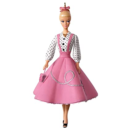 Amazon.com: Hallmark Barbie Soda Shop Ornament keepsake-ornaments ...