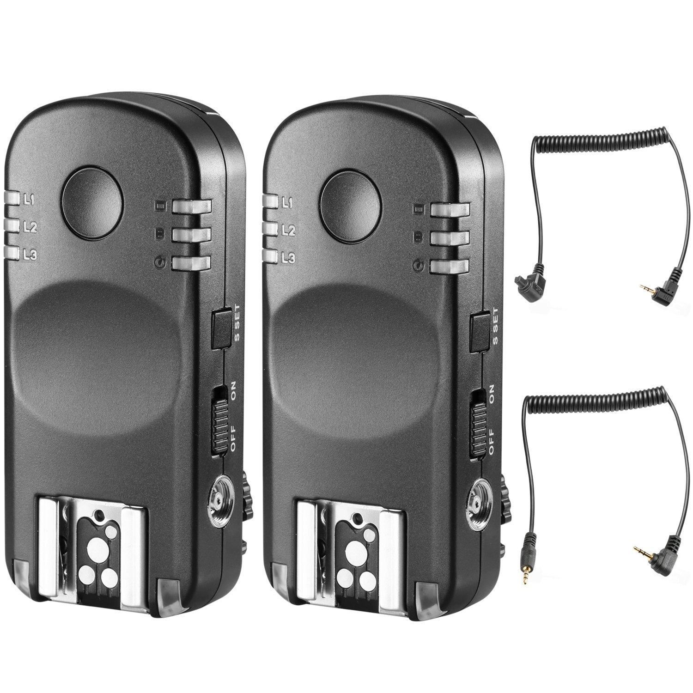 Neewer Flash Trigger Trasmettitore 2,4G Wireless Remoto Funzionamento di Coppia come Rilascio Otturatore Remoto per Reflex Digitali Canon, ad Esempio 1D Mark II 5D Mark II III 1100D ecc