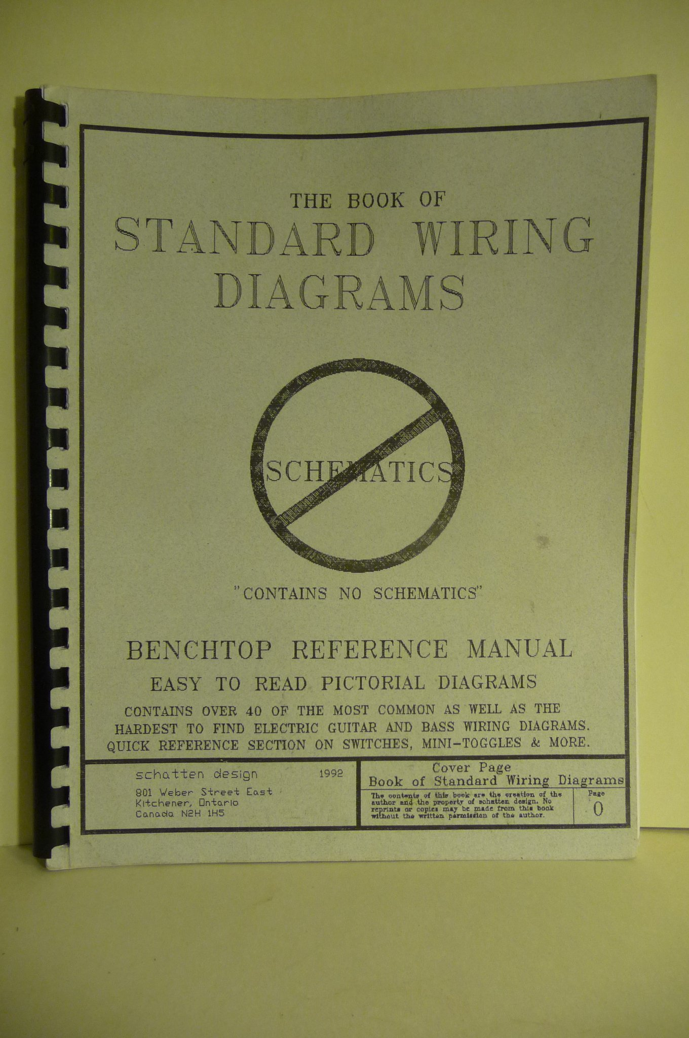 The New Book Of Standard Wiring Diagrams Benchtop Reference Manual Pictorial Diagram Les Schatten Books