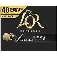 L'OR Espresso Koffiecups Ristretto (160 Ristretto Koffie Capsules, Geschikt voor Nespresso* Koffiemachines, Intensiteit…
