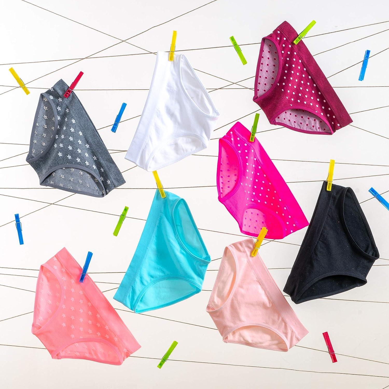 Pack of 8 Alyce Intimates Seamless Girls Bikini Panties