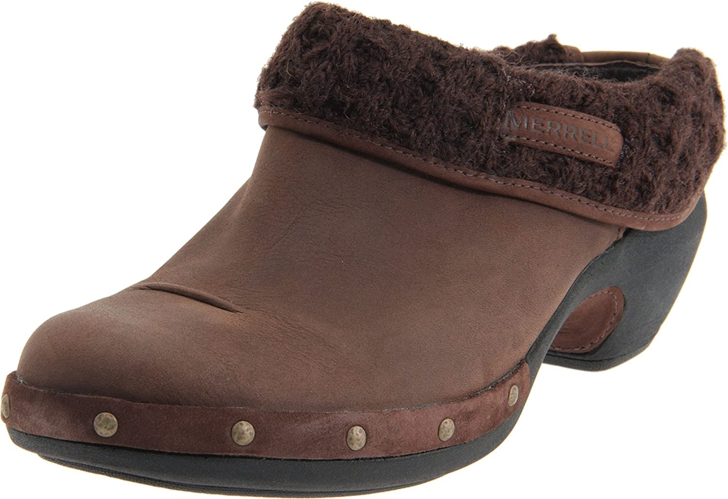 Dependence Short life crack  Merrell Luxe Knit Womens Leather Slip on Clogs / Shoes - Brown - SIZE UK 6:  Amazon.co.uk: Shoes & Bags