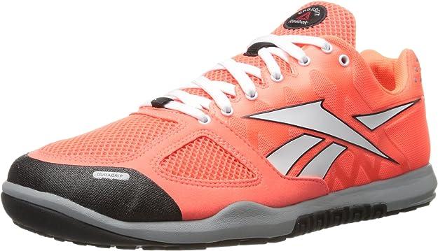 Reebok Crossfit Nano 2.0 Zapatillas de entrenamiento para hombre, Naranja (Vitamina C/Blanco/Negro/Gris Plano), 41.5 EU: Amazon.es: Zapatos y complementos