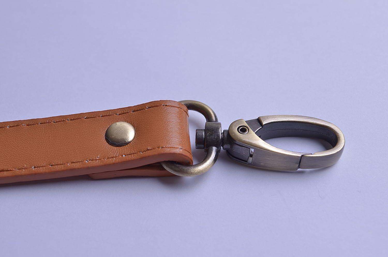 Wento 1pcs 43-49 Pu Camel Leather Adjustable Bag Strap,soft Leather Shoulder Straps,replacement Cross Body Purse Straps,handbag Bag Wallet Straps Gold