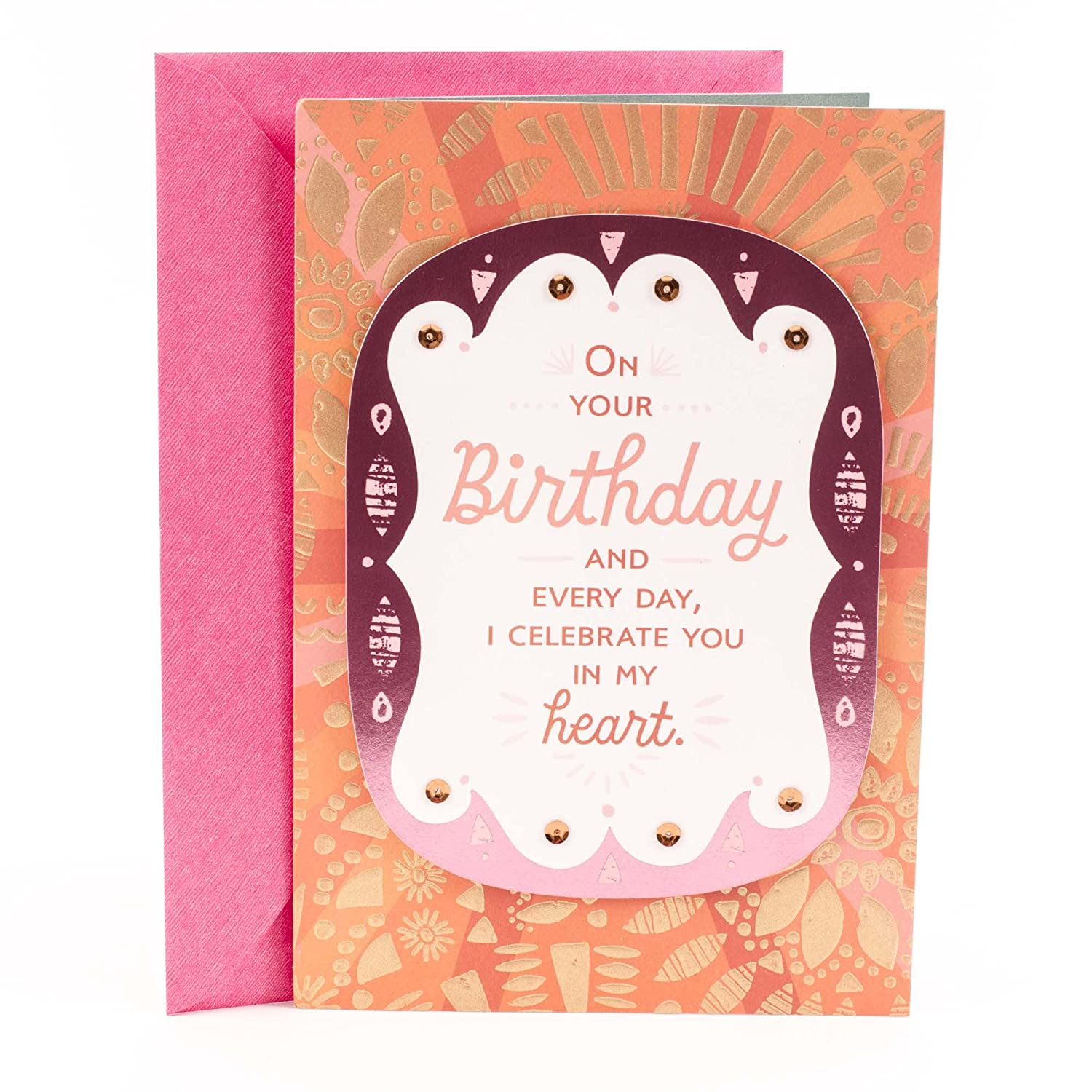 Amazon Hallmark Mahogany Birthday Card For Daughter I Celebrate You Office Products