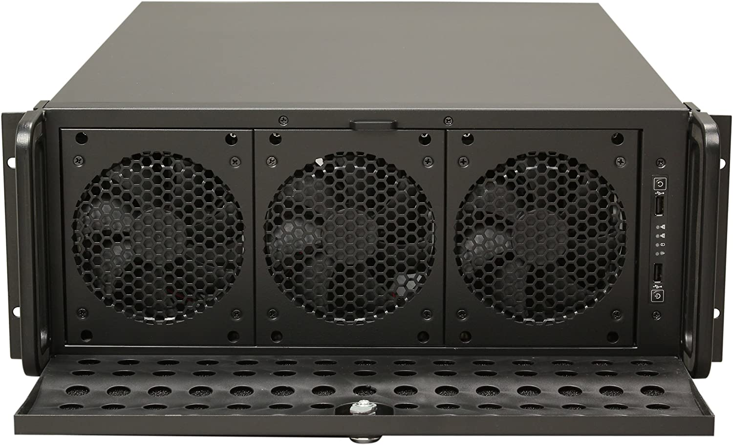 Rosewill 4u Server Chassis Server Case Rackmount Case Metal Rack Mount Computer Case Support With 15 Bays 7 Fans Pre Installed Rsv L4500 Computers Accessories