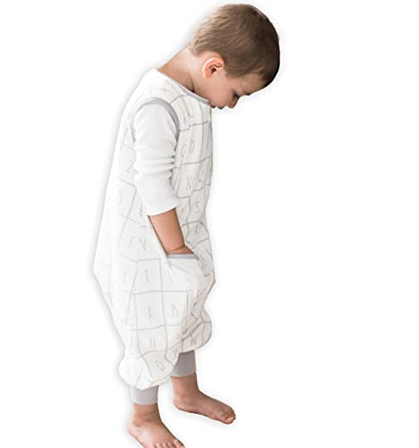 Softest Sleepsuit 12m-2t Large TEALBEE DREAMSUIT: Toddler and Early Walker Baby Wearable Blanket 1.2 TOG Sleeping Sack with Feet keeps Toddlers /& Babies Warm during Sleep from Summer to Winter