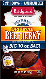product image for Bridgford Sweet Baby Ray's Original Beef Jerky, High Protein, Zero Trans Fat, Made With 100% American Beef, 10 Oz, Pack of 3