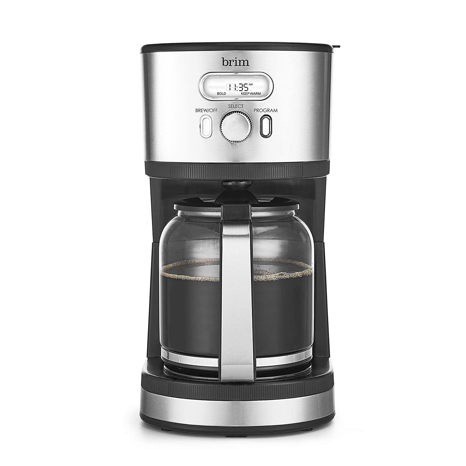 Brim 50021 Coffee Maker Programmable 14 Cup Stainless Steel Coffeemaker
