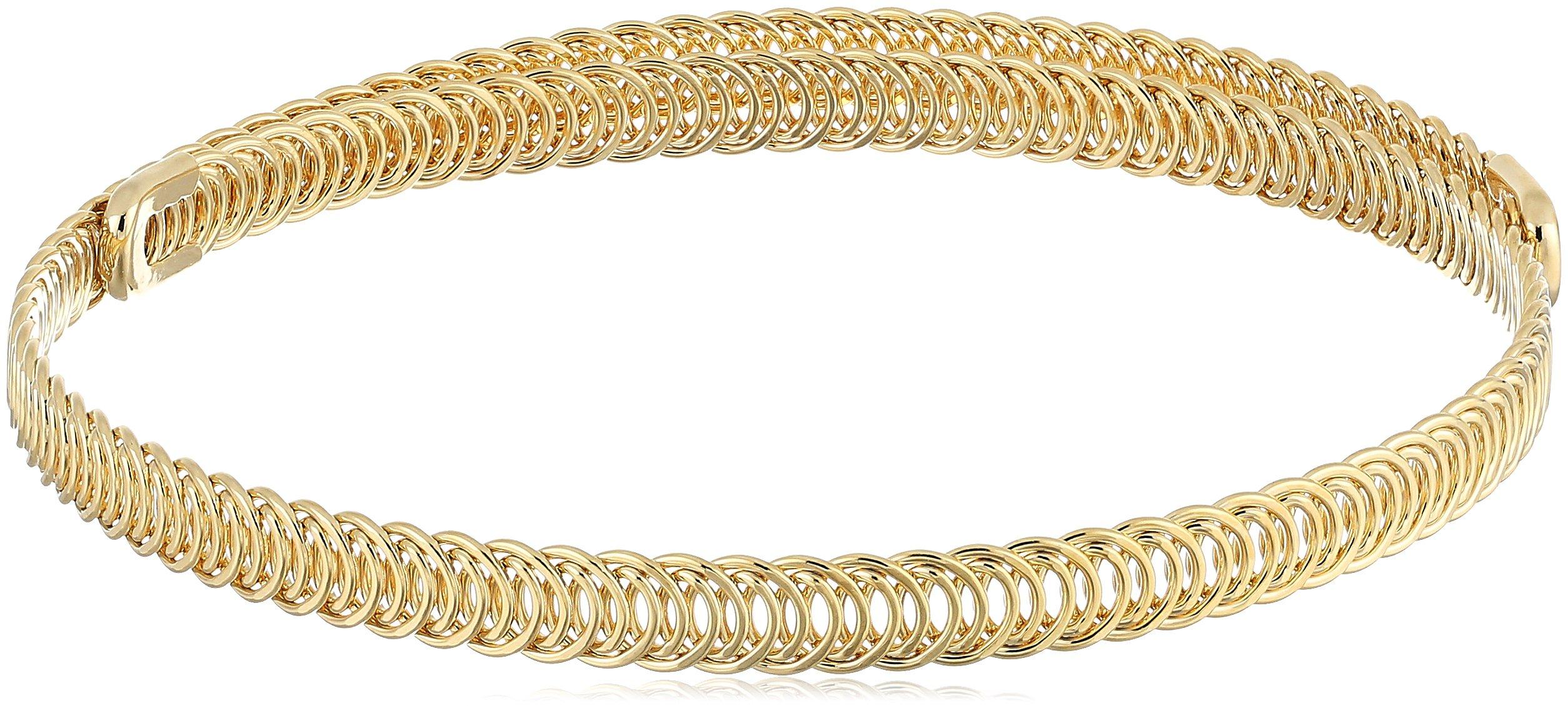 Kenneth Jay Lane Polished Gold Braided Choker Necklace