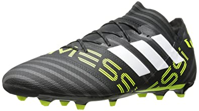 105b3fadb156 adidas Men's Nemeziz Messi 17.2 Firm Ground Cleats Soccer Shoe Black/White/Solar  Yellow