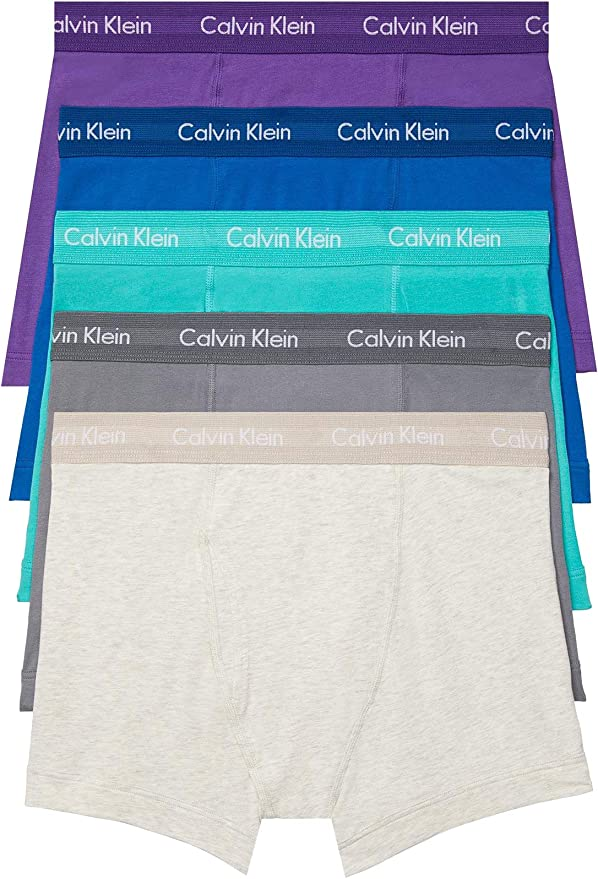 Calvin Klein Cotton Stretch Multipack Low Rise Trunks Bañador para Hombre, Blue Bay/Shortline/Jet Grey/Stripe/Raisin Torte, L: Amazon.es: Ropa y accesorios