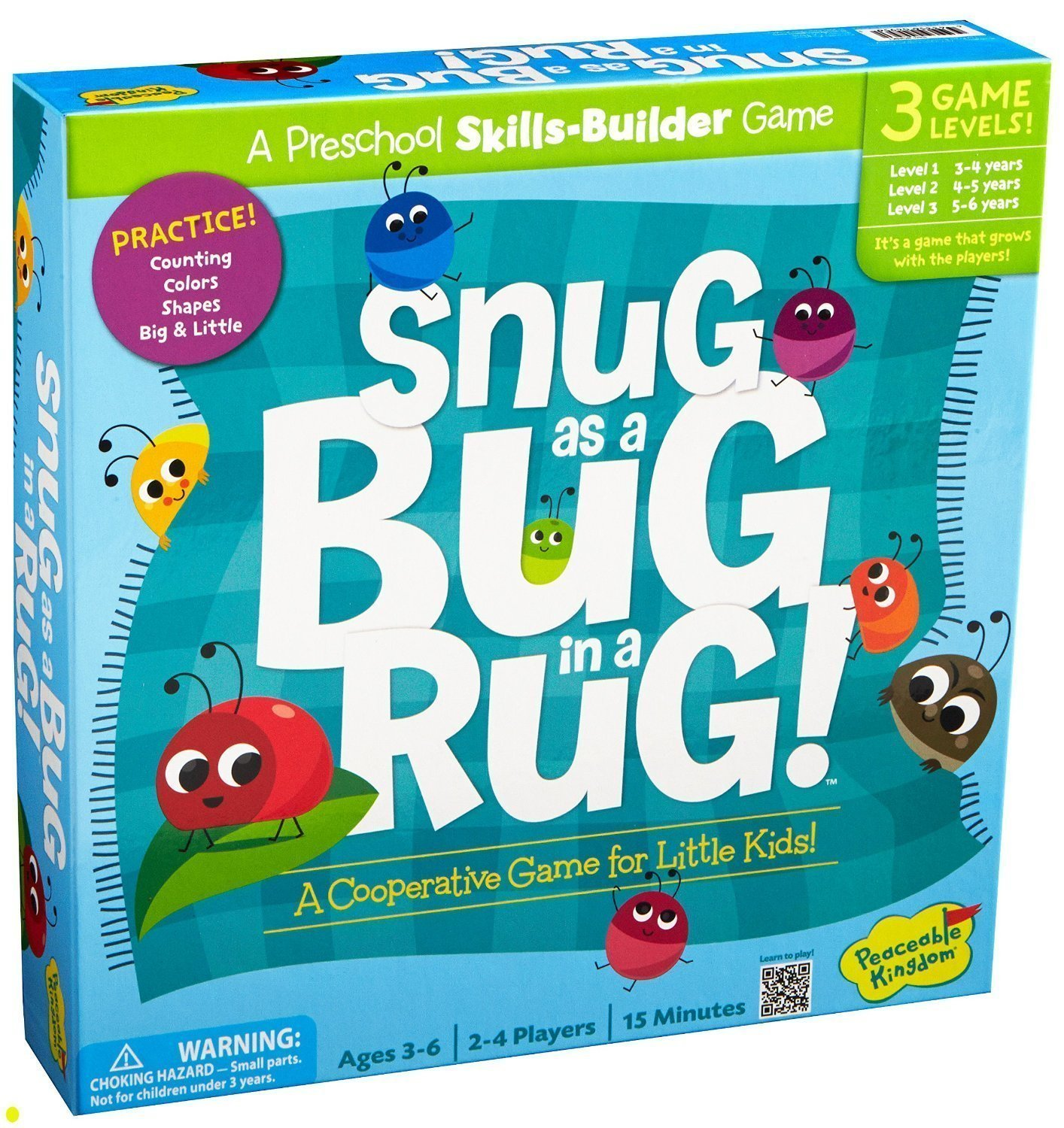 Amazon.com: Peaceable Kingdom SNUG AS A BUG IN A RUG GAME: Toys & Games