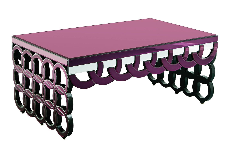 Premier Housewares Couchtisch Verspiegelt Durchsichtig 56x130x80 Cm Violett Amazonde Kche Haushalt