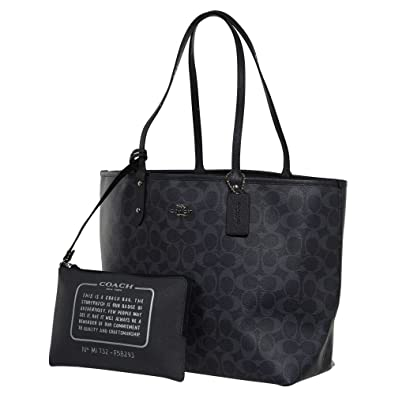 a46f9f929b Coach F58293 REVERSIBLE CITY TOTE IN DENIM SIGNATURE  Amazon.com.au ...