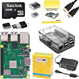 CanaKit Raspberry Pi 3 B+ (B Plus) Complete Starter Kit (16 GB Edition, Premium Clear Case)