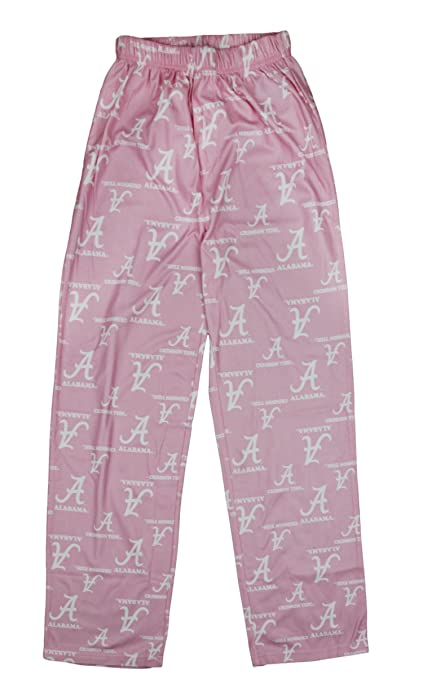 Outerstuff NCAA Alabama Crimson Tide Girls Youth 7-16 Pink Printed Lounge Pants
