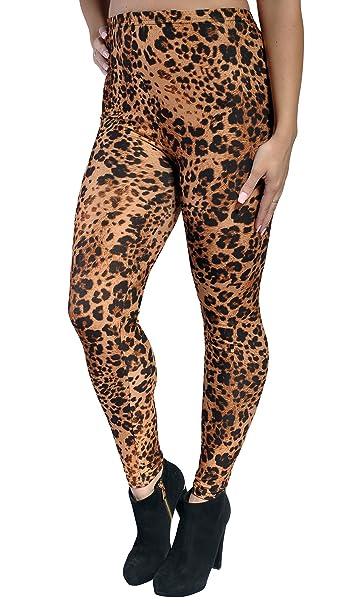 7dd315eccf707d Amazon.com: BadAssLeggings Women's Brown And Black Cheetah Leggings ...
