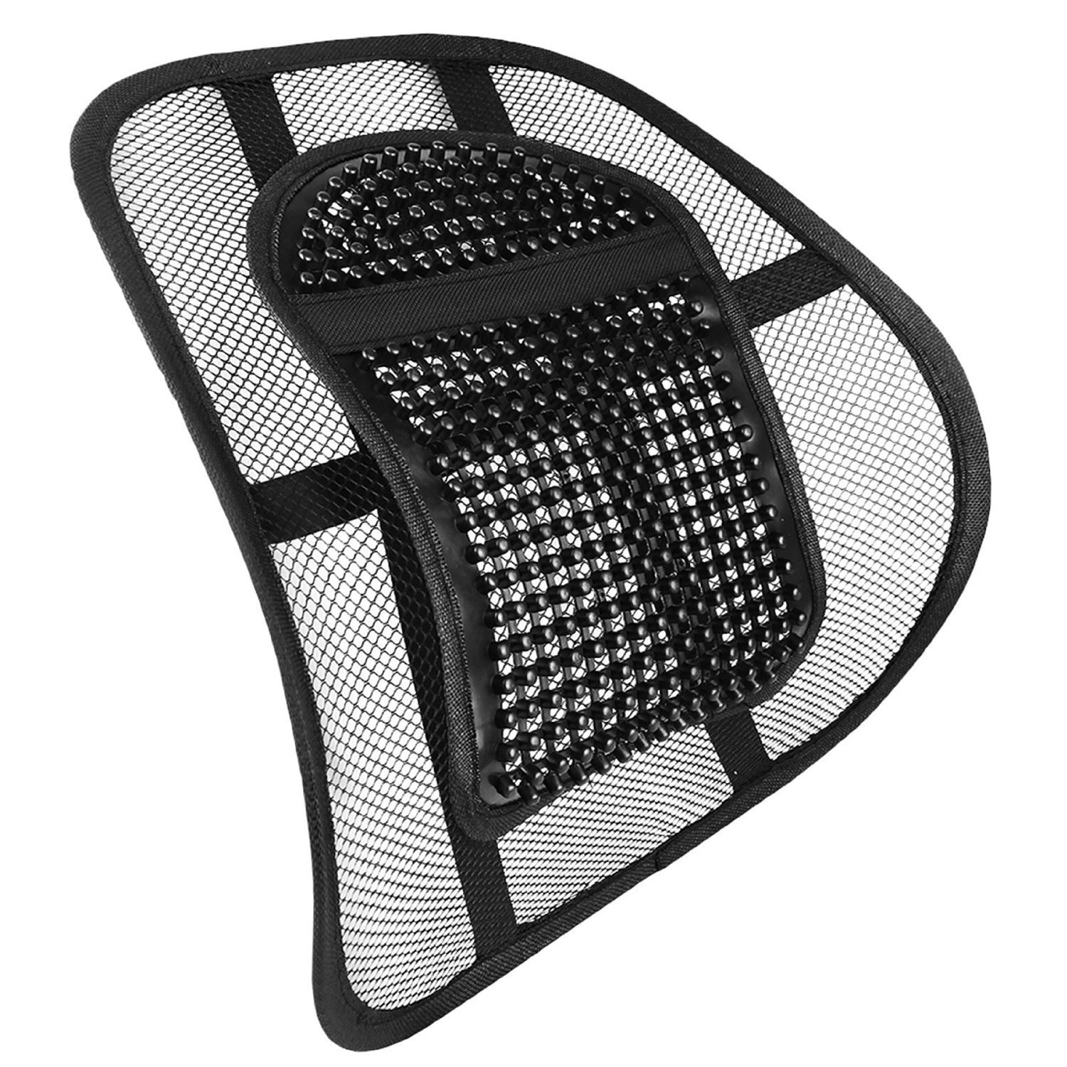 Chair Back Support System Sit Right with Elasticated Positioning Strap and Mesh Lumbar Grill Air Flow High Quality Lumbar Support Cushion for Car Seat or Chair Back Rest RRP £19.99 DNY®