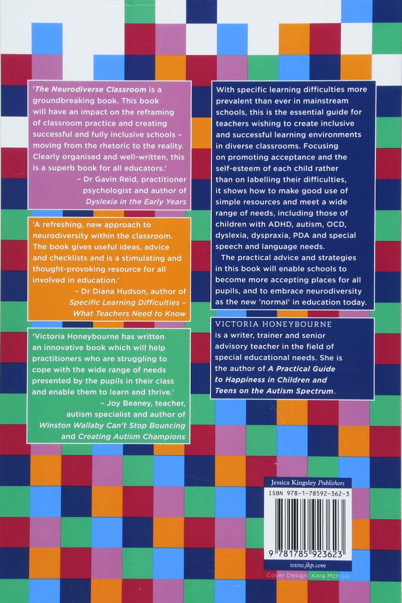 The Neurodiverse Classroom A Teachers Guide To Individual Learning Needs And How Meet Them Amazoncouk Victoria Honeybourne Books
