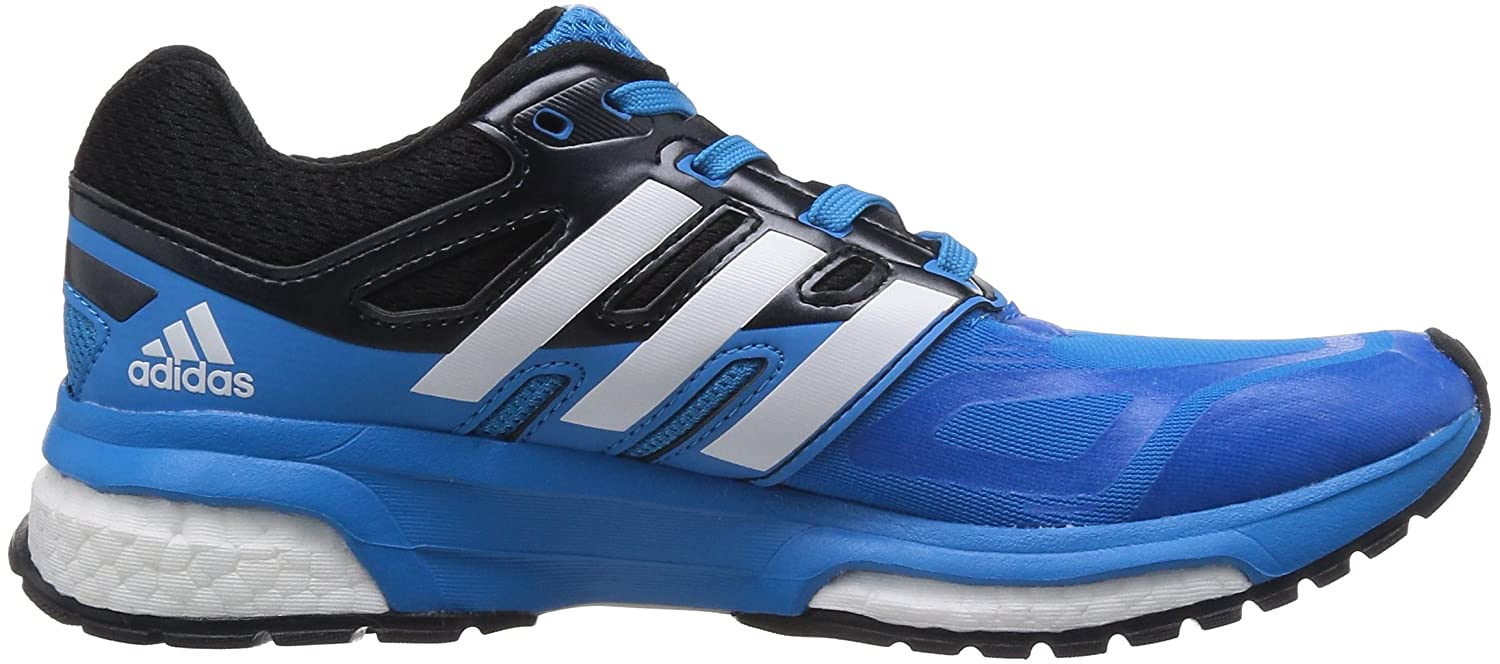 1195a2bb90a adidas Response Boost Techfit Mesh Ortholite Running Black Blue Trainers   Amazon.co.uk  Sports   Outdoors