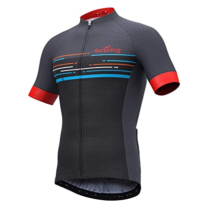 4ucycling Men s Short Sleeve Cycling Jersey with 3 Rear Pockets - Full Zip 673945d0d