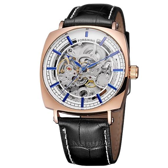 FORSINING - Reloj de pulsera para hombre, correa de piel auténtica, impermeable, para diversas ocasiones: Amazon.es: Relojes