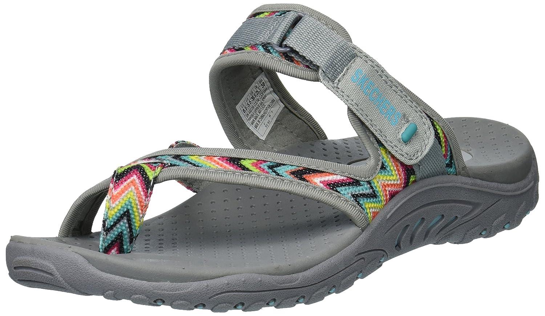 Skechers Women's Reggae-Zig Swag Sandals Flip-Flop B01IRSXKOE 10 M US|Gray