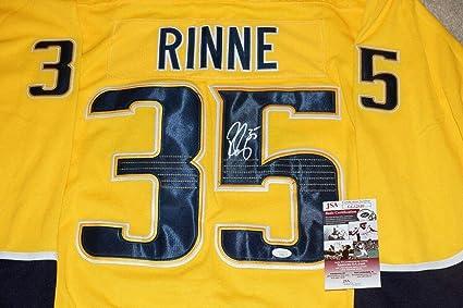 27df95a71f6 Pekka Rinne Signed Jersey -  35 + COA  CC32810 - JSA Certified - Autographed