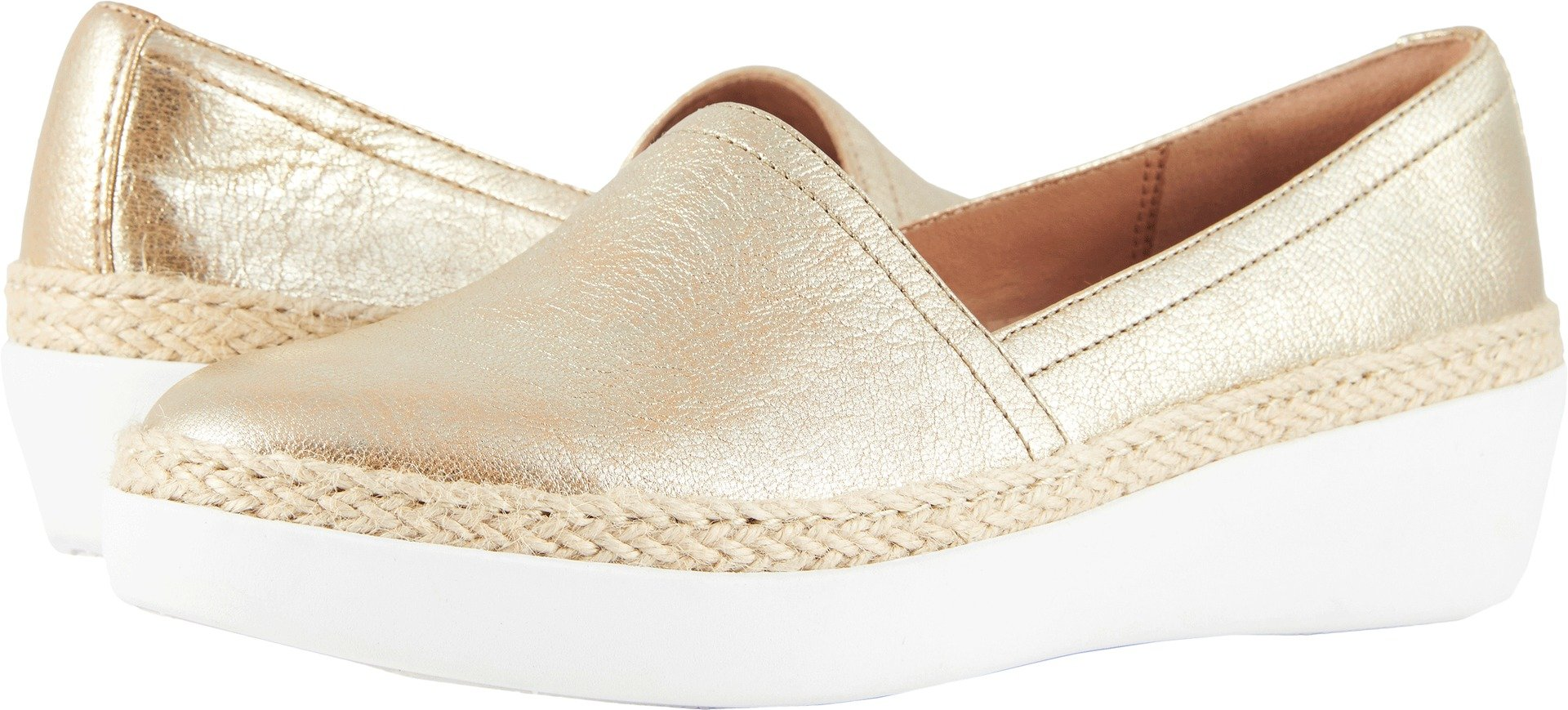 FitFlop Women's CASA Loafers Metallic Gold 8.5 M US