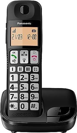 Oferta amazon: Panasonic KX-TGE310SPB- Teléfono Fijo Inalámbrico (LCD Grande, Teclas Grandes, Agenda de 50 Números, Bloqueo de Llamadas, Modo ECO, Compatible con Audífonos) - Color Negro