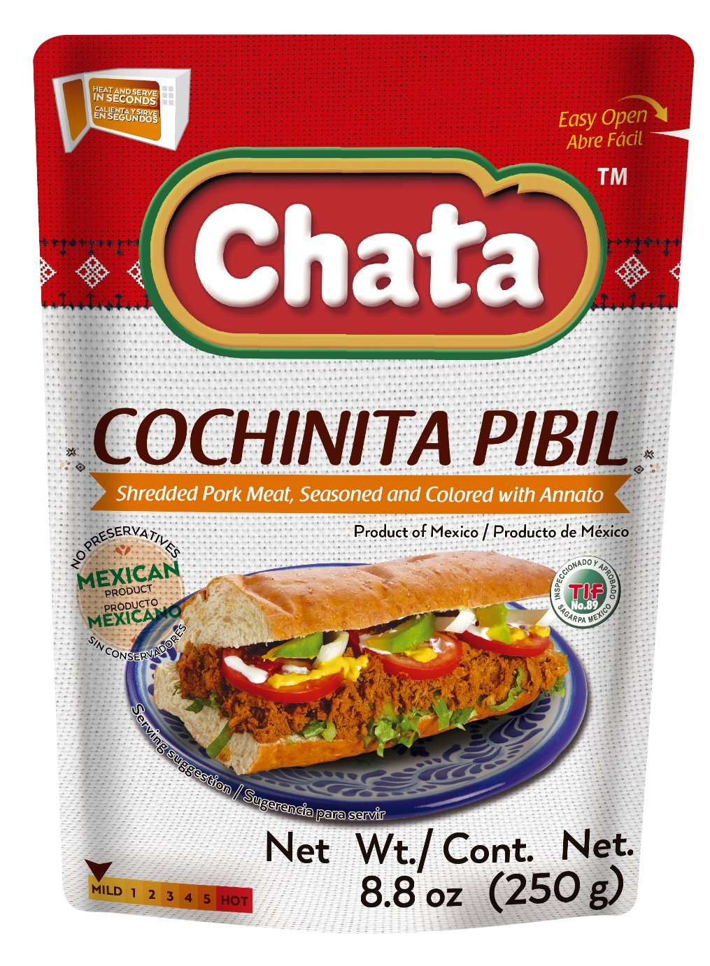 Amazon.com : Cochinita Pibil Shredded Seasoned Meat 2 Pack 8.8oz Easy Open Pouch/Ready to Eat (2) : Grocery & Gourmet Food