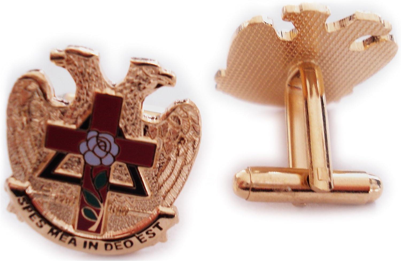 Scottish Rite Rose Croix Cross 32 Degree Masonic Masonry Freemason Cuff Links Cufflinks Set