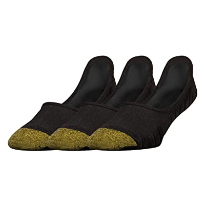 Gold Toe Men's The Tab No Show, 3 Pairs, Black/Black, Sock Size: 10-13/Shoe Size:9-11 at Men's Clothing store