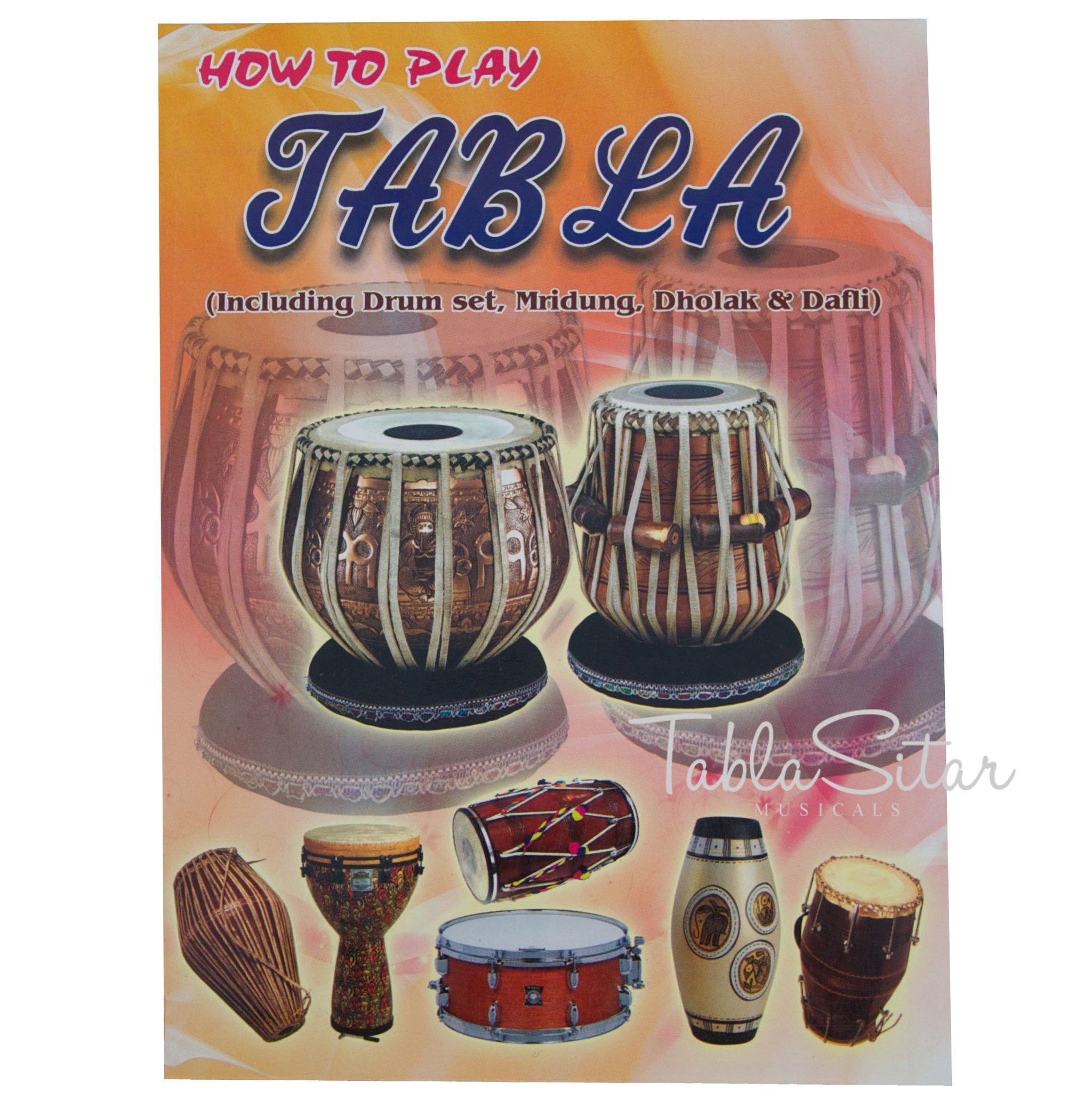 Tabla Drum Set by Maharaja Musicals, Professional, 3.5 Kg Copper Bayan - Designer Carving, Sheesham Tabla Dayan, Padded Bag, Book, Hammer, Cushions, Cover, Tabla Musical Instrument (PDI-CJH) by Maharaja Musicals (Image #9)