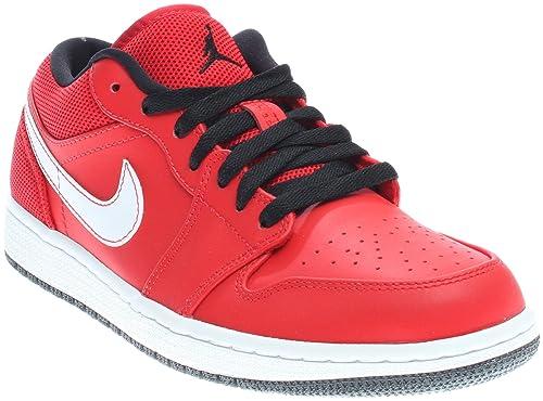 0de5f50a978d22 Nike Air Jordan 1 Low University Red Black-White US Men s Size 11. 5 ...
