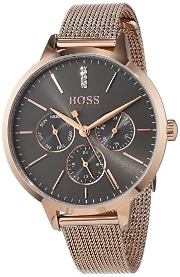 Hugo BOSS Reloj Multiesfera para Mujer de Cuarzo con Correa en Acero Inoxidable 1502424: Amazon.es: Relojes