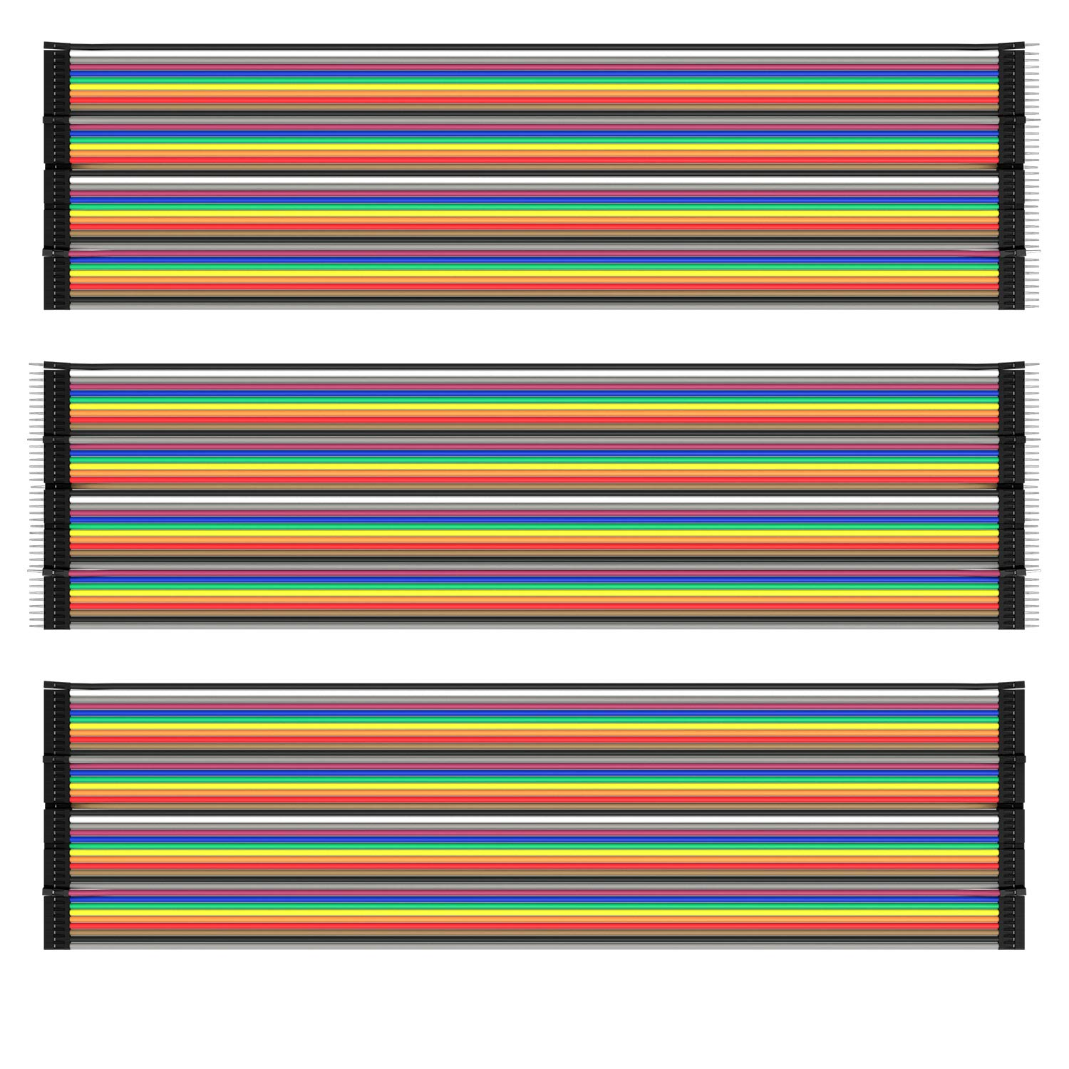AZDelivery Jumper Wire Cables de Puente 20 cm 3 x 40 pcs cada uno Macho-Hembra/Macho-Macho/Hembra-Hembra compatible con Arduino y Raspberry Pi Breadboard con E-Book incluido! (120 pcs)