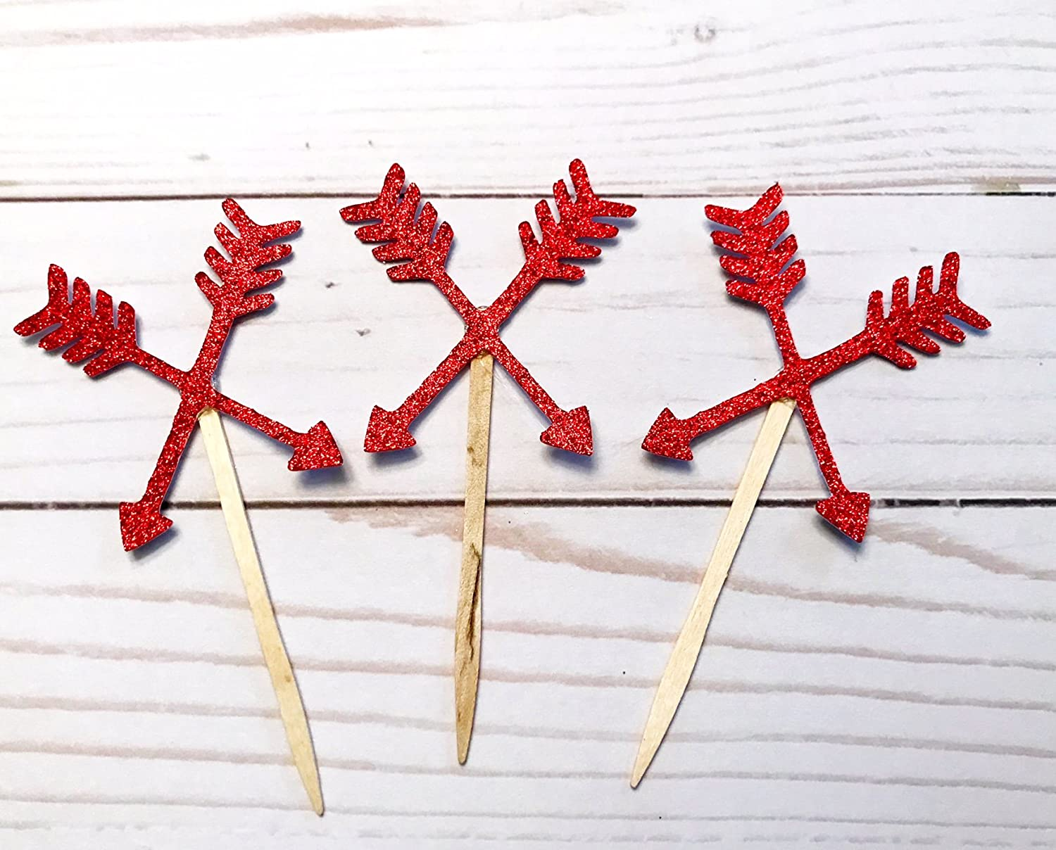 Wild One Cupcake Toppers Arrow Cupcake Toppers Tribal Cupcake Toppers Glitter arrow cupcake toppers Wild One Theme First Birthday Party
