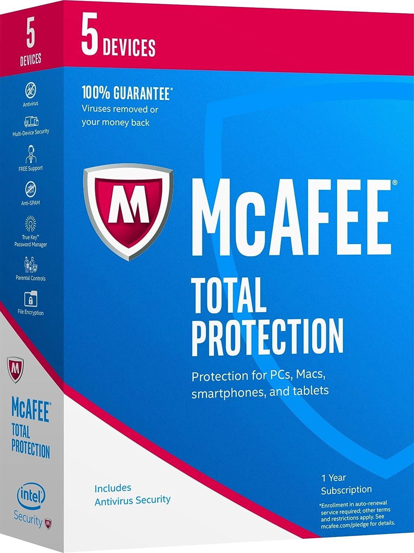 McAfee Total Protection 2017 Antivirus 1-Year//10-Device MTP17ESA0RAA