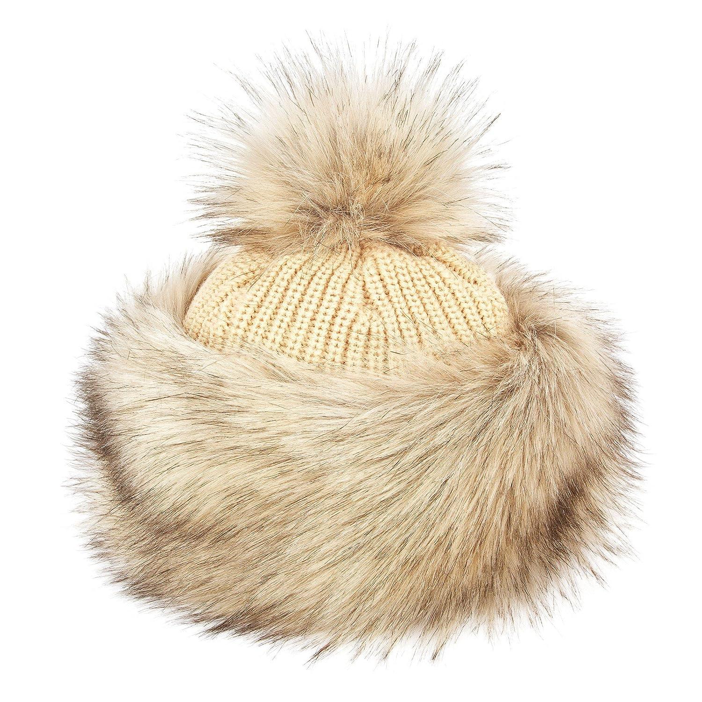 Futrzane Tatars Faux Fox Fur Winter Hat for Women Trapper Ski Futrzane-tatarka-15