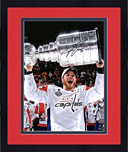 "e08b1c66bf6 Framed John Carlson Washington Capitals 2018 Stanley Cup Champions  Autographed 16"" x 20"" Raising"