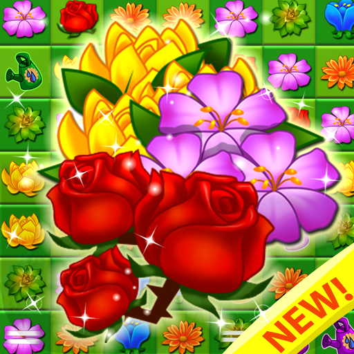 Blossom Garden - Flower Puzzles New Match 3 Games! Blast, Pop Free