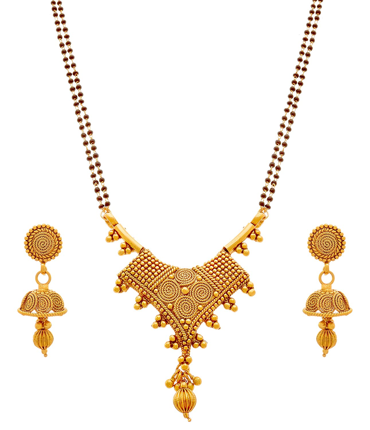 Buy Jfl - Jewellery For Less Traditional Ethnic Spiral One Gram ...